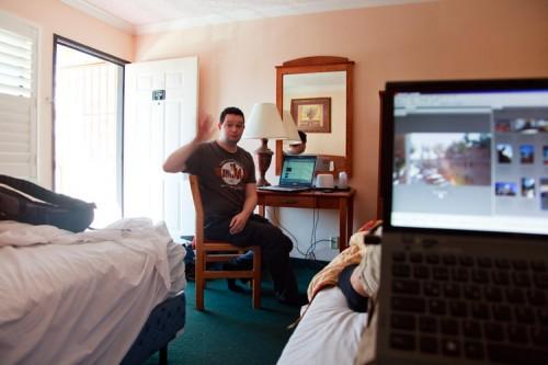 Hotelzimmer in L.A.